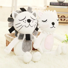 16x33CM New Fashion Cartoon Cats Lions Animals Cute Plush Dolls Stuffed Calm Sleep Pillow Toys Gifts for Valentines