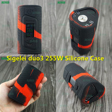 RHS Nice New product Sigelei Fuchai Duo 3 255W Silicone Cover Three batteries USB TC Mod vape sleeve skin cover tough dustproof(China)