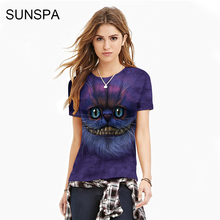 SUNSPA 2017 3D T shirt anime hot style printed T-shirt fashion popular logo women's short-sleeved, quick dry bottom shirt wholes(China)