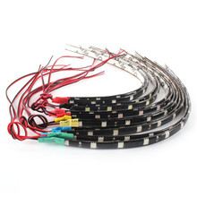 Hot Sales 2PCS DIY 12 LEDs 30cm 5050 SMD Strip Light Waterproof Flexible 12V Decor LM76(China)