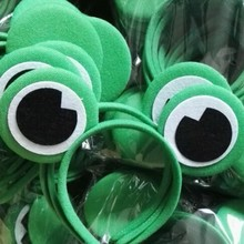 10pcs Halloween Accessories adult animal Frog Ears Headband costume hairband Kids Hairband Children Birthday Party Head Ornament