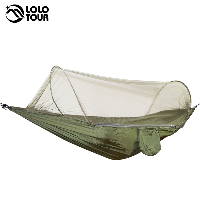 Outdoor Camping Parachute Hammocks Mosquito Net Hamac Can Be Used Camping Survival Travel Hiking Trekking Sleeping Tent Mats<br>