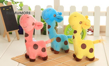 12pcs/lot wholesale , new cute Middle Size 18CM approx. Giraffe Plush Toys , Stuffed Giraffe plush toy , plush animal dolls