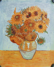 Van Gogh Sunflowers oil painting reproduction famous artist artwork for friends birthday gift hang on the bedroom No Frame(China)