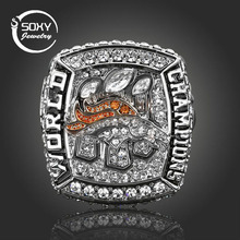 SOXY NFL Classic Fans High-End Collection 2015 Denver Broncos Rugby Super Bowl Championship Ring