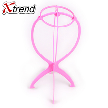 2pcs/lot Hot Selling pink Wig Head Stand Detachable Display Tools for wigs Durable Human Hair Extension