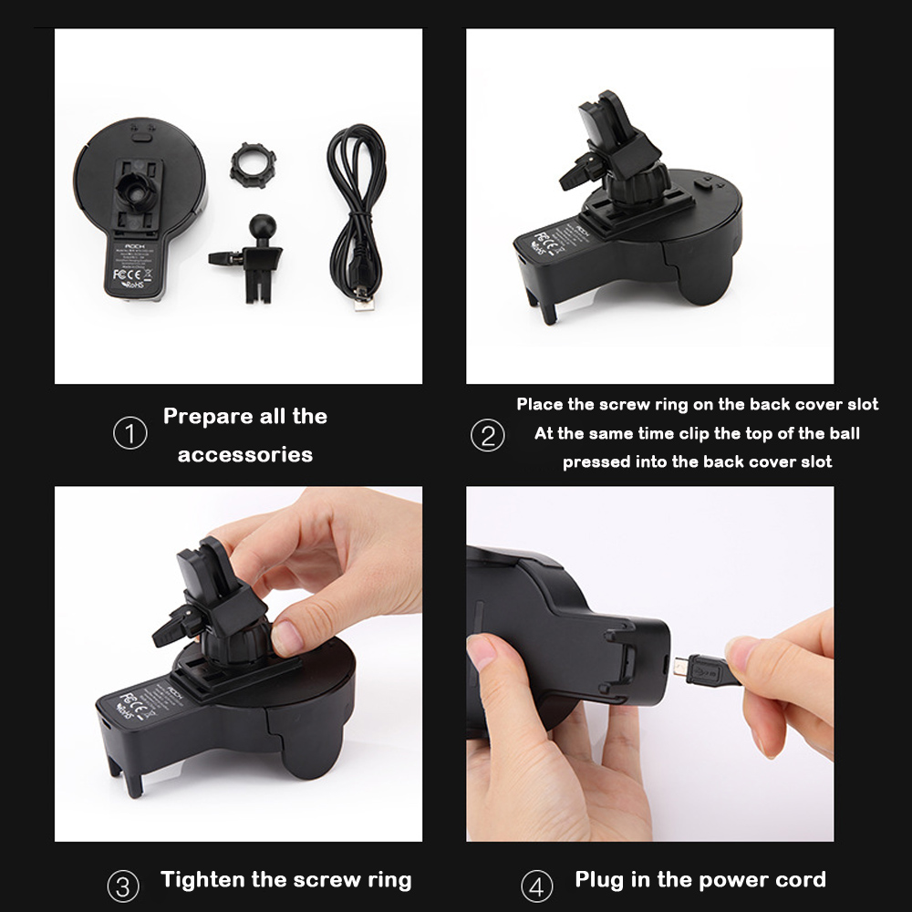 Quality QI Wireless Charger Automatic Infrared Sensor Car auto holder 9
