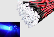 20 PCS LED 3mm Pre-Wired White Red Blue Green Yellow White RGB Pre wired 12V DC Light Bulb led lamp F3 Emitting Diodes DIY