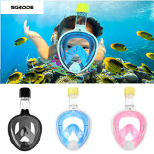 Upgraded Silicone Underwater Scuba Anti-fog Full-Dry Diving Mask Snorkeling Goggles Glasses Diving Snorkel Set For Gopro Camera(China)