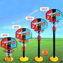 Newly Plastic Child Basketball Hoop Net Backboard Set Stand Height Adjusting Basketball Stand Sports Toys with Inflator Pump