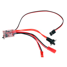 RC ESC 20A Brushed Motor Speed Controller with Switchable Brake for RC Car Boat