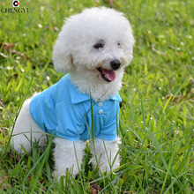 2016 Fashion Cat Pet Dog Clothing Apparel Solid Polo T-Shirts Puppy Cozy Small Dog Football Clothes Jacket XS S M L Large