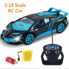1/18 Drift Speed King Radio 4 channel Remote Control Cars with magical light RC Sport Racing Car self control no track Best Toys(China)