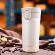 ONEISALL Thermal Cup Insulated Coffee Thermo Mug Thermos Water Bottle for Tea Heat Coffee Mugs Travel Tumbler Thermos 12 oz(China)