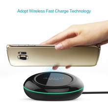 dodocool Fast Wireless Charger for Samsung Galaxy S7 Edge/Note5 With 1.5m Micro USB Cable Compatible With All Qi-enabled Devices(China)