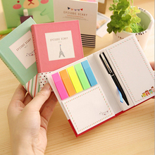 Creative Hardcover Memo Pad Post It Notepad Sticky Notes Kawaii Stationery Diary Notebook Office School Supplies + Pen(China)
