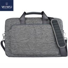 WIWU Laptop Messenger Bag 11 12 13 14 15 17+Free Keyboard Cover for Macbook Nylon Waterproof Laptop Bag for MacBook Pro 13 Case(China)