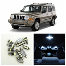 13pcs White Canbus Car LED Light Bulbs Interior Package Kit For 2006-2010 Jeep Commander Map Dome Trunk License Plate Lamp(China)