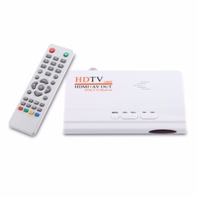1080P HD HDMI DVB-T2 TV Box Tuner digital Terrestrial Receiver Converter with Remote Control Composite Video Output for TV