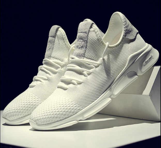 b2c01979d Summer white shoes breathable versatile mesh shoe male Korean version of  the trend Black sports shoes