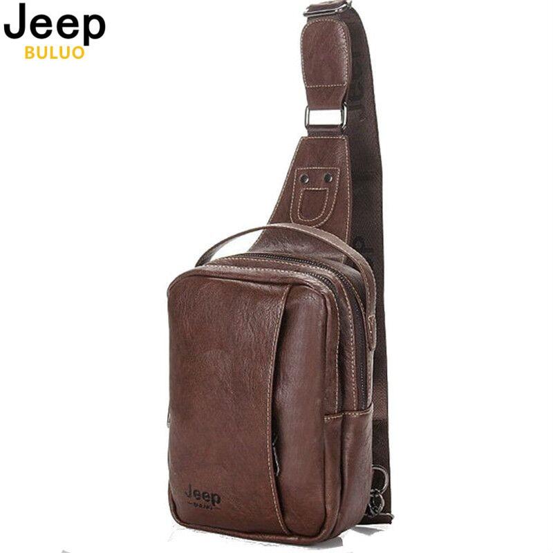JEEP BULUO Brand Fashion Men Messenger Bags Leather Handbag Cross Body Shoulder Chest Bags Packs Water Shape Canvas 4Colors 9098<br><br>Aliexpress