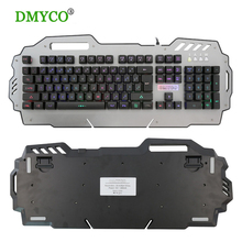 DMY 1.5KG overweight Gaming mechanical Keyboard Teclado Gamer Floating LED Backlit Mechanical button feel with USB for computer(China)