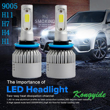 Buy 9005 9006 H7 55W 8000LM LED Headlight Conversion Kit Car Beam Bulb Driving Lamp 6000K 2017 Newest Car-styling Automobiles lights for $17.25 in AliExpress store