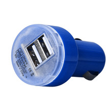 Ularmo New Bullet Adaptor Dual USB 2-Port Car Charger For iPhone for iPod Touch PP(China)
