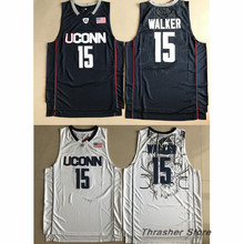 Kemba Walker UCONN Retro Throwback Stitched Basketball Jersey Sewn Camisa Embroidery Logos