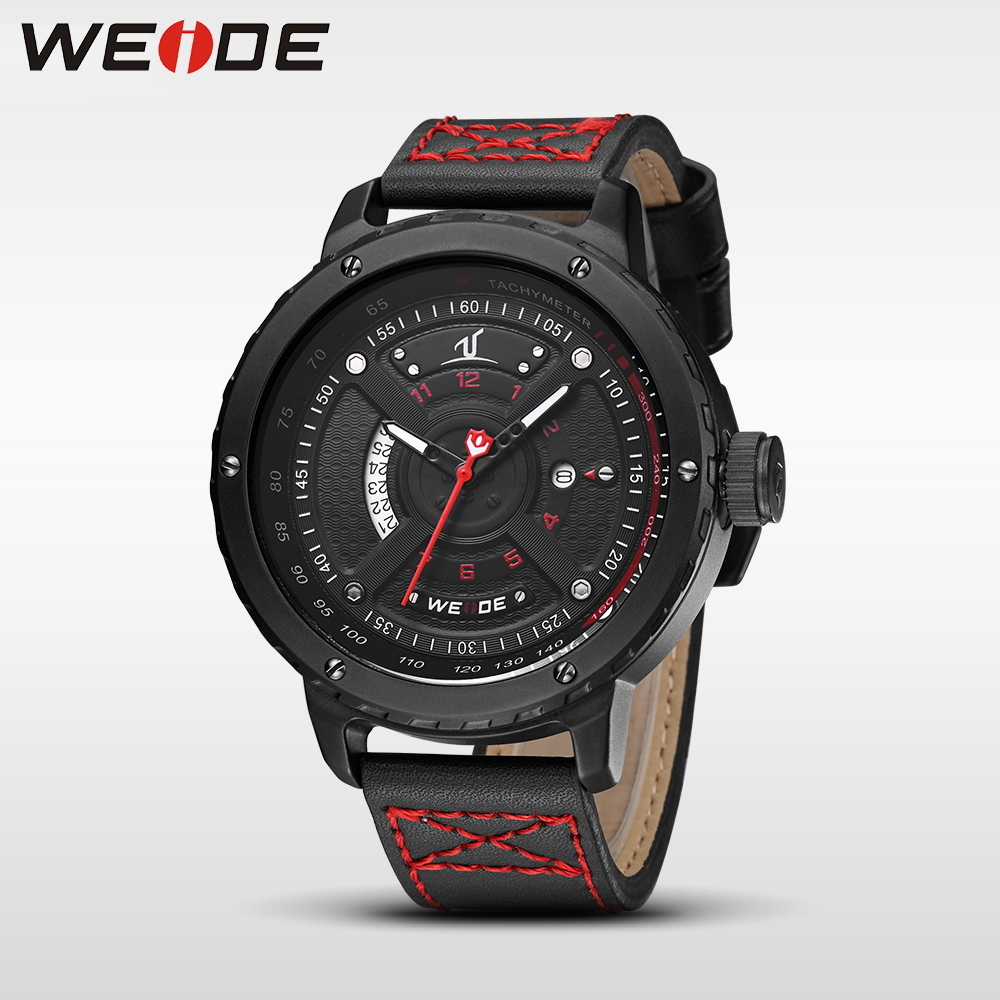 WEIDE casual genuine men watches luxury brand watch quartz analog men sport leather watches waterproof Schocker clock army watch<br>