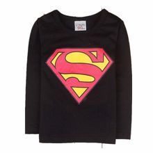 Hot new Cartoon Printing Superman Long Sleeve T-Shirts Fashion Cotton Children Baby Boys T Shirts Child Clothing 19