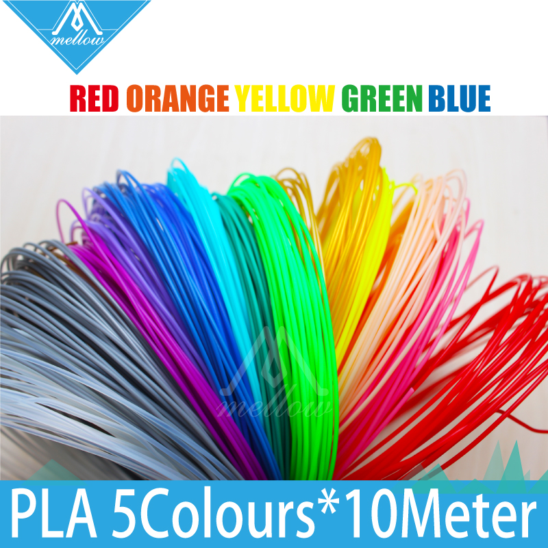 Hot Sale 5rolls/lot 10M 3D Printer filament PLA samples 1.75mm 20 colours For 3D Drawing Printer Pen MakerBot/RepRap/UP/Mendel<br><br>Aliexpress