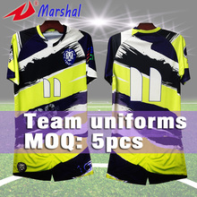 2016  Sublimation Printing New Design Men Football Clothing free shipping