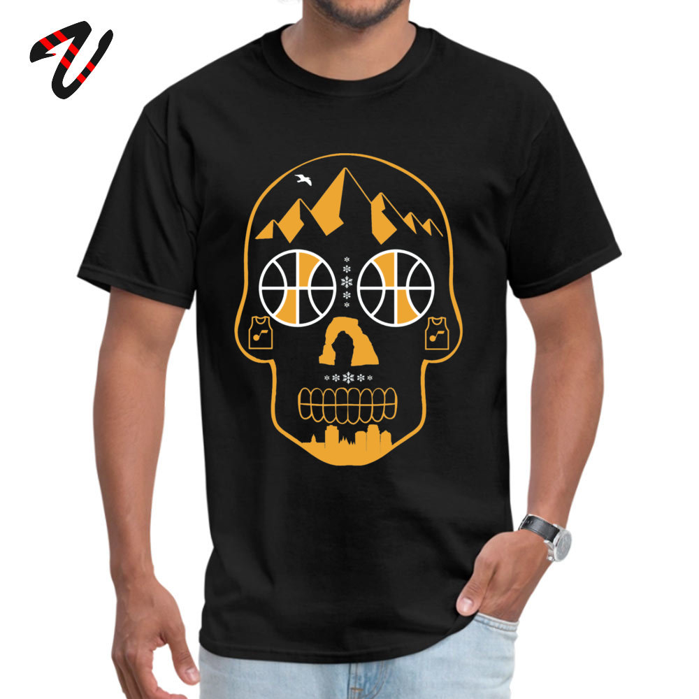 Utah Sugar Skull Personalized Short Sleeve Tees Summer Fall O-Neck 100% Cotton Men T-Shirt Personalized Clothing Shirt 2018 New Utah Sugar Skull10661 black