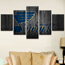 Modern Home Wall Decor Frame Ice Hockey Sports Pictures HD Print 5 Panel Musical Note Painting On Canvas For Living Room PENGDA(China)