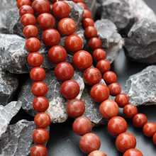 Wholesale AAA+ Natural Red Stone Round Beads For jewelry Making DIY Necklace Bracelet Material 4/6/8/10/12 mm Strand15.5''(China)
