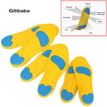 High Quality PU Silicone Gel Sports insoles Running Massage Pain Relief Support Shoes Insoles Insert Pads Cushion Basketball(China)