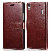 TOMKAS Case For Lenovo K3 Note K50-T5 Flip PU Leather Wallet Cell Phone Cover Case For Lenovo K3 Note With Card Holder Stand(China)