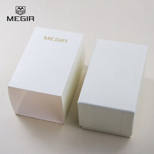 Megir Brand Leather Watch Boxes Fashion & Casual White Paper Case Rectangle Gift Box MGEbox03