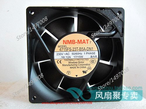 NMB 4715FS-23T-B5A, DN1 DC 230V 0.16A, 120x120x38mm 2-wire 90mm Server Square cooling fan Free Shipping <br>