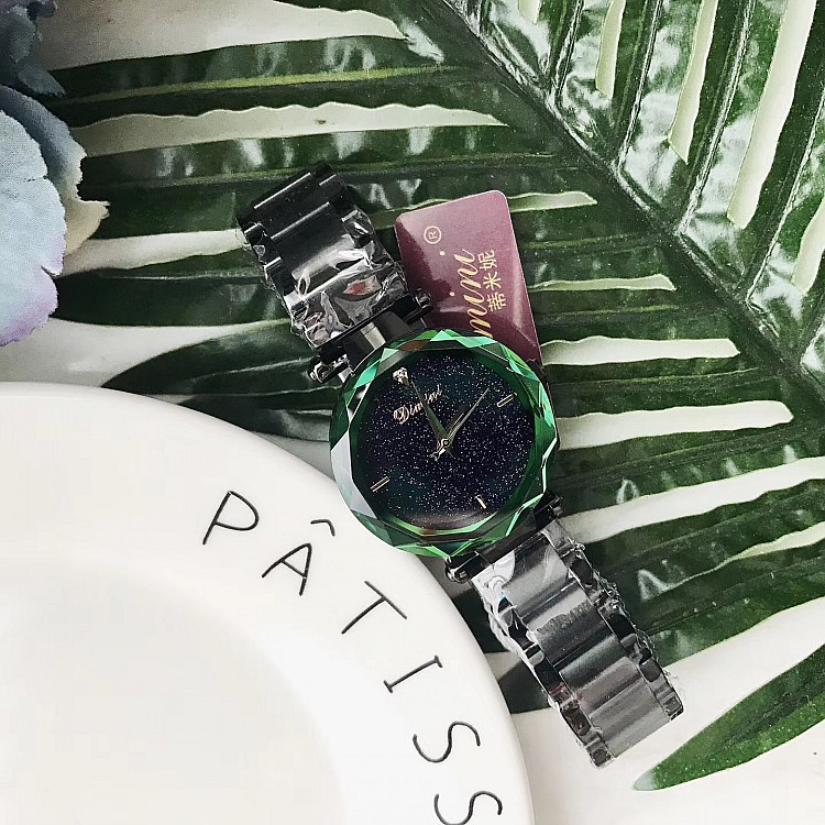 Womens Watch Womens Fashion Color Stainless Steel Womens Watch Luxury Delicate Star Womans Watch reloj mujer relogio feminin<br>