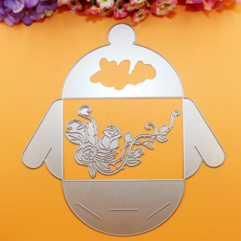 YLCD512 Stunned Bear Metal Cutting Dies For Scrapbooking Stencils DIY Album Cards Decoration Embossing Folder Die Cuts Template