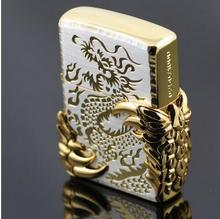 High quality of men's wear brand kerosene lighter Jin Bing 2 African wing of the dragon of the dragon tribe original box