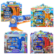 11 Styles Electric Thomas Train Track Elsa Rail car Spiderman The Avengers Educational Kids Toys With Nice Package Kids Gifts #E