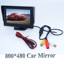 "New 4.3"" Color TFT LCD Rearview Car Monitors for DVD GPS Reverse Backup Camera Vehicle driving accessories hot selling"