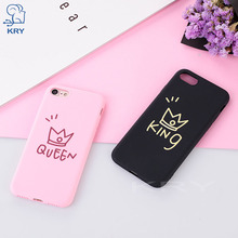 Buy KRY Soft TPU Crown Phone Cases iPhone 8 Case Ultra Thin Silicon Cover iPhone 6 Case 6s 5 5s Cases X 7 8 Plus Capa Coque for $1.39 in AliExpress store