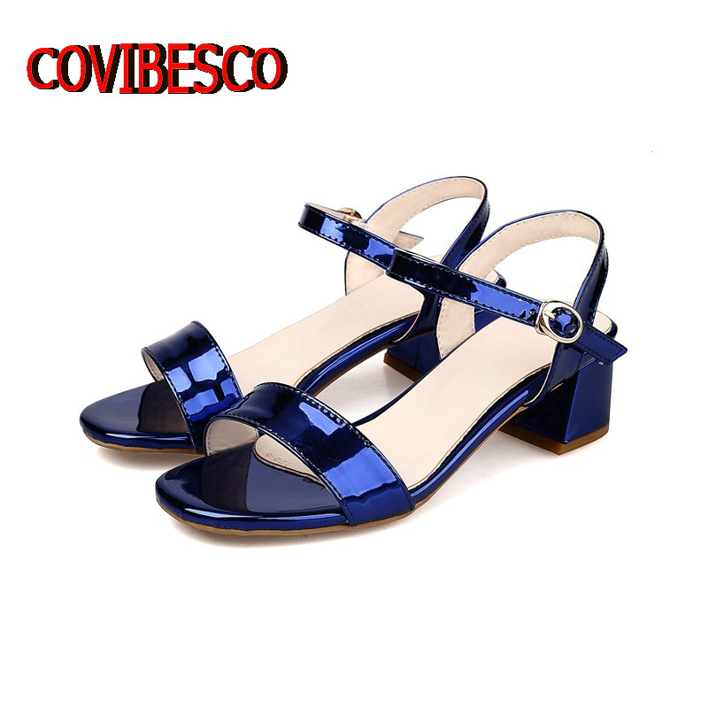 Big Size 34-43,women High Quality Thick High Heels Sandals Fashion Ankle Strap Summer Shoes Comfortable Street Fashion Sandals<br><br>Aliexpress