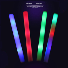 20pcs/Lot  Led Foam Stick  Multicolor Changing Flash Batons 48cm RGB Glow Stick Light Up Tube Party Bar KTV  Concert Decoration