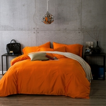 100% egyptian cotton bedding set excellent quality orange bed sheet/duvet cover couvre lit luxury bedding sets Queen king size