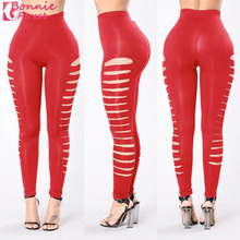 Bonnie Forest 2017 Sexy Women Hot Style Pants Sexy Cut Out High Waist Yoga Pants Workout Gym Wear Leggings Hollow Out Trousers